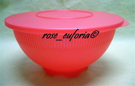Tupperware Collection rose euforia my tupperware collection tupperware wash n strain 1 2 1l