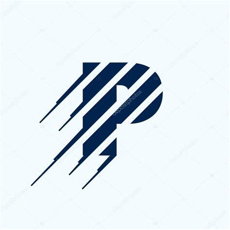 p letter logo design template stock vector kaerdstock