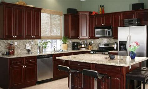 kitchen ideas with cherry cabinets cherry cabinets countertop photos