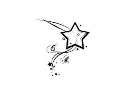 star tattoo drawing designs initials tattoos
