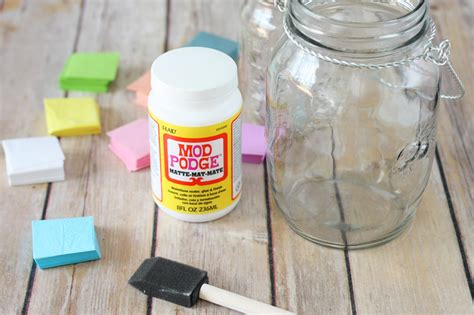 How To Make A Paper Jar - tissue paper stained glass jars crafts unleashed