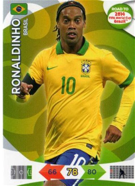 columbia card world cup brazil ronaldinho 24 panini road to 2014 fifa world cup