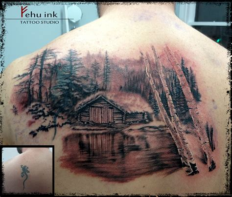 cabin tattoo in progress by ellegottzi on deviantart