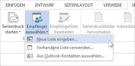 Etiketten Aus Outlook 2013 Drucken by Erstellen Und Drucken Etiketten Mit Der