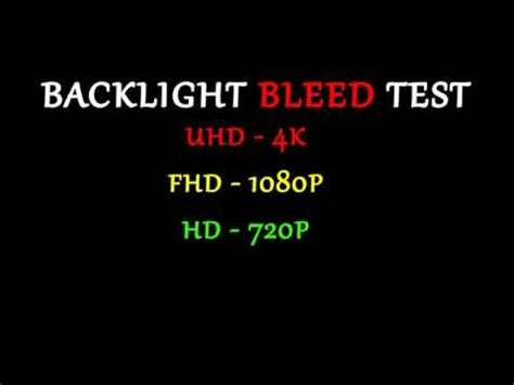 4k test test your monitor backlight bleed test 4k ultra hd