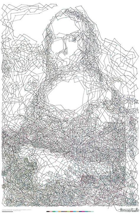 printable mona lisa dot to dot connect the dots mona lisa portrait by thomas pavitte the
