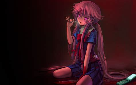 wallpaper anime yuno mirai nikki computer wallpapers desktop backgrounds
