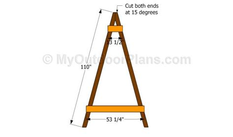 swing set angles framing a frame angle for swing home improvement stack