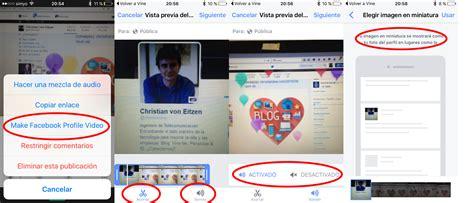 imagenes para un perfil de facebook v 237 deo de perfil en facebook ponerlo en android y truco