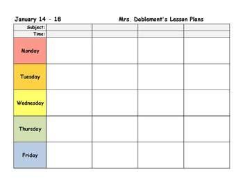 editable lesson plan templa by heather dablemont
