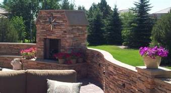 landscaping colorado springs terraced backyard design with radius walls landscaping