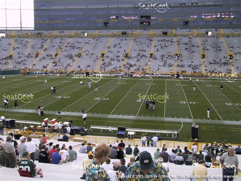 Section 115 Lambeau Field by Lambeau Field Section 111 Seat Views Seatgeek