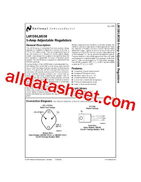 transistor lm338k datasheet lm338k datasheet pdf national semiconductor ti