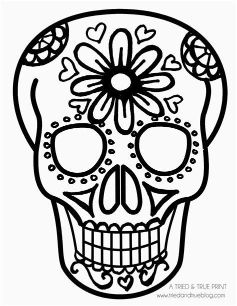 Day Of The Dead Drawings Easy by Easy Sugar Skull Drawing At Getdrawings Free For