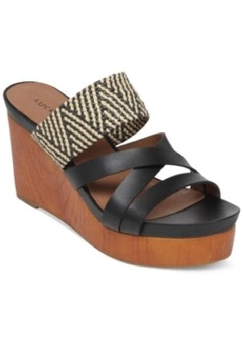 lucky brand lucky brand nyloh platform wedge sandals