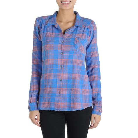 Plaid In Or Out by Volcom Plaid It Out Button Shirt S Evo
