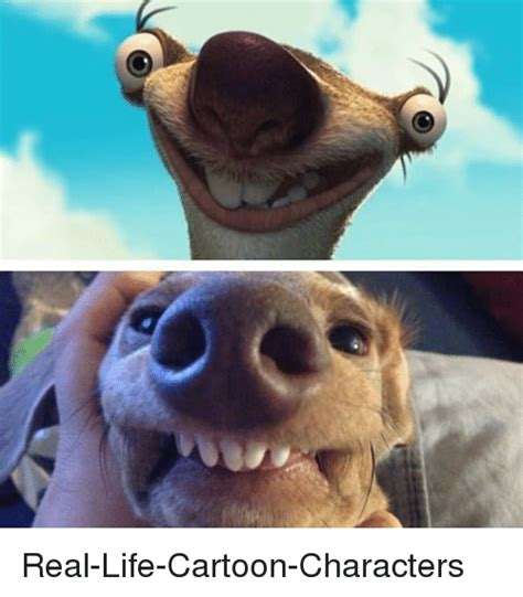 real life cartoon characters funny meme  sizzle