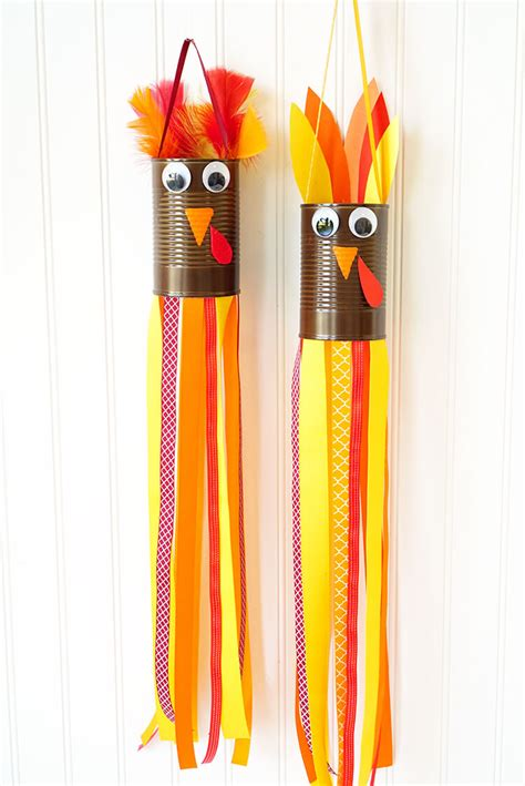 crafts thanksgiving thanksgiving craft turkey windsocks happiness is