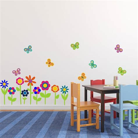 flowers and butterflies wall stickers flowers and butterflies wall stickers by mirrorin