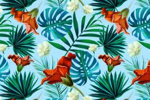 Tropical pattern. Jungle flowers ~ Patterns on Creative Market