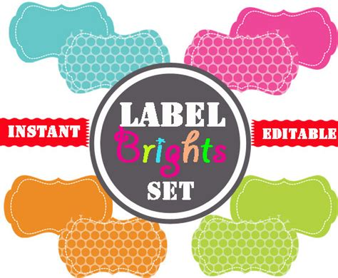 printable office labels printable labels instant and editable by tidyladyprintables