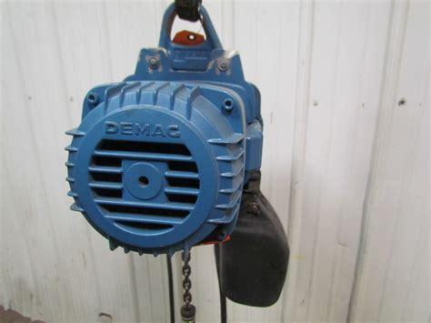 Electric Chain Hoist Chainstergt Up To 2 500 Kg demag dkun 5 500 k v1 1 2 ton 1000 lb electric chain hoist 13 lift 32fpm 460v ebay