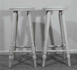 shabby chic stools pair of solid pine bar stools shabby chic country style