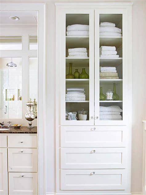 built in bathroom linen cabinets creative bathroom storage ideas linen closets cabinets