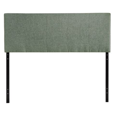 padded leather headboard oliver contemporary padded faux leather headboard gray