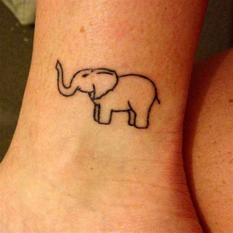 elephant ankle tattoo 85 tiny elephant designs