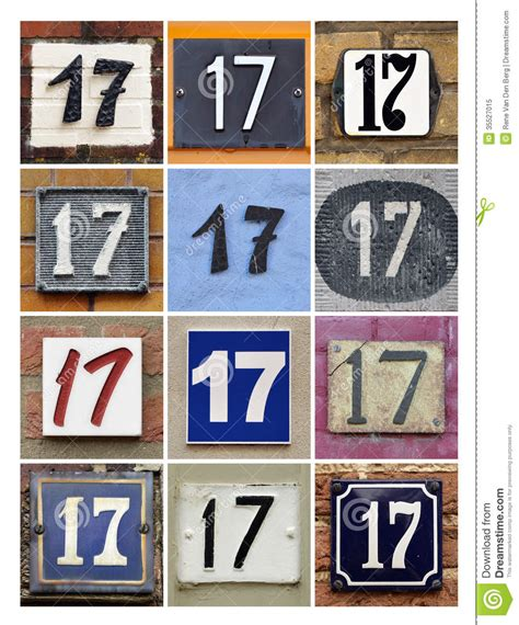 Design House Plans For Free Numbers 17 Stock Illustration Image Of Icon Address