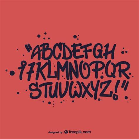 lettere stile graffiti stile graffiti alfabeto lettere scaricare vettori gratis