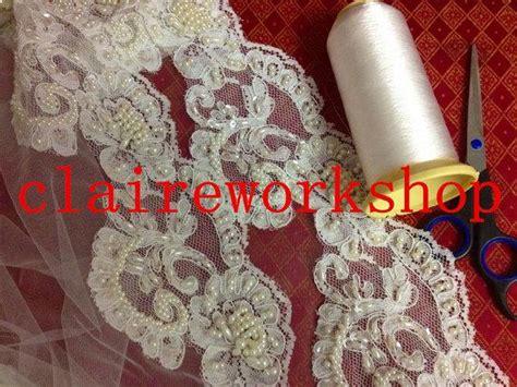 Handmade Wedding Veils - high quality princess pearl lace wedding veils
