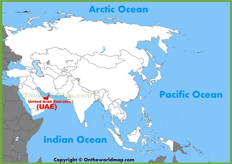 dubai location in world map uae location on the asia map