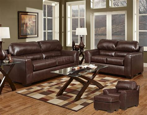dark brown leather sofa dark brown bonded leather modern loveseat sofa set w options