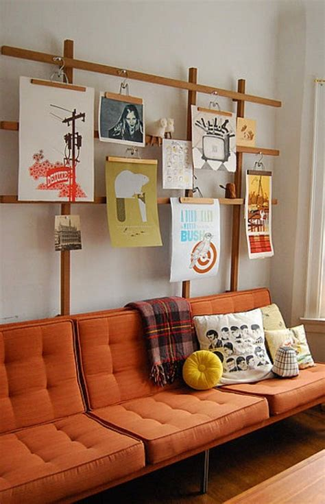 how to hang artwork save a wall hang a poster 20 ideas for alternative art