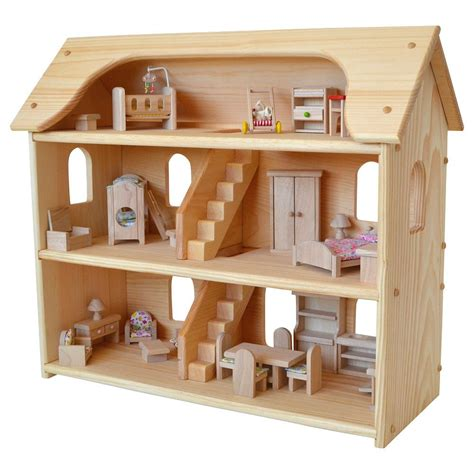 wooden dolls house with furniture seri s wooden dollhouse wooden dollhouse floor space and third