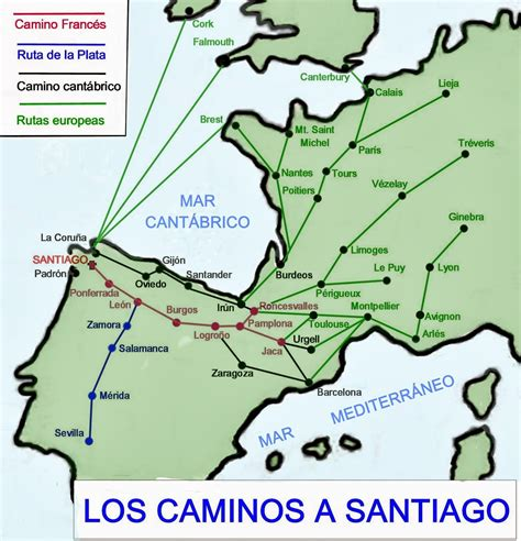 el camino de santiago de compostela histogeomapas el camino de santiago