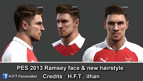 download hairstyles pes 2013 pes modif pes 2013 ramsey face new hairstyle by h f t