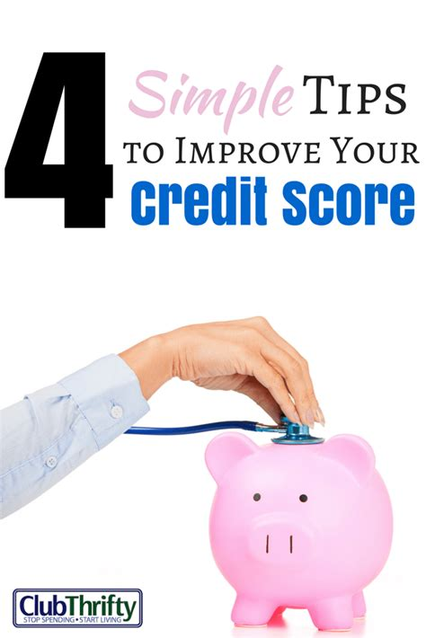 take your credit a simple approach to fixing it books 4 simple tips to improve your credit score club thrifty