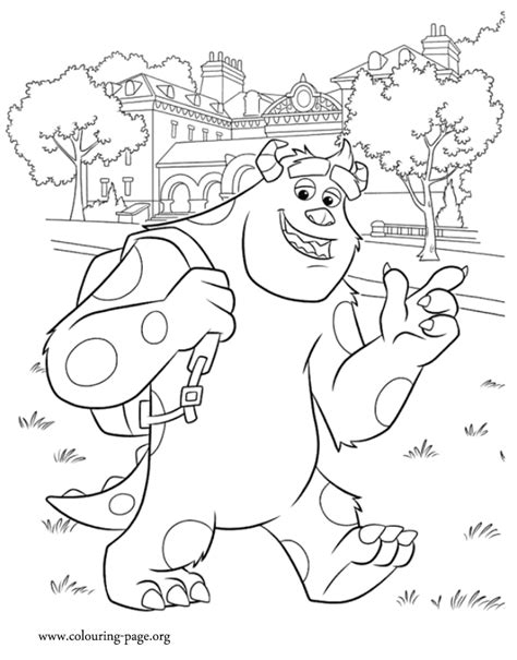 coloring pages monster university monsters university coloring pages
