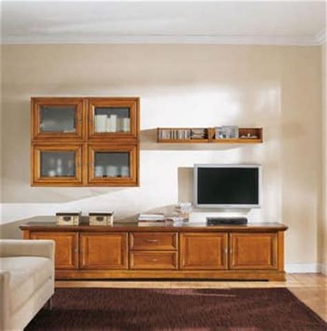 modular living room storage living room furniture in solid wood classic style idfdesign