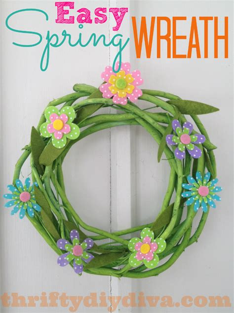 how to make a spring wreath for front door easy diy spring wreath craft