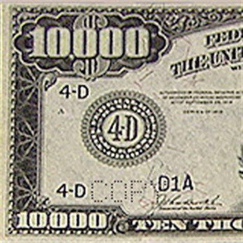 $10,000 Bill | Museum of American Finance $10000 Bill For Sale