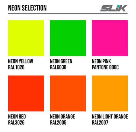neon yellow color code pantone neon color chart