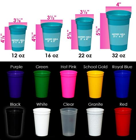 Cup 55gr 12 16oz personalized stadium cups 12 oz crazyaboutcups