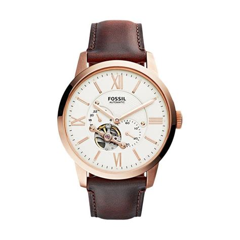 Jam Tangan Fossil Leather Brown Jual Fossil Jam Tangan Pria Leather Brown Me3105