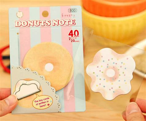 Stick Note Memo Cookys q cookie donuts doughnut sticky note post it memo sticker notes 183 q store