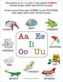 beginning vowel worksheets for kindergarten 100 awesome