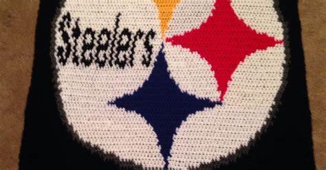 crochet pattern steelers logo pittsburgh steelers blanket my newest design my crochet